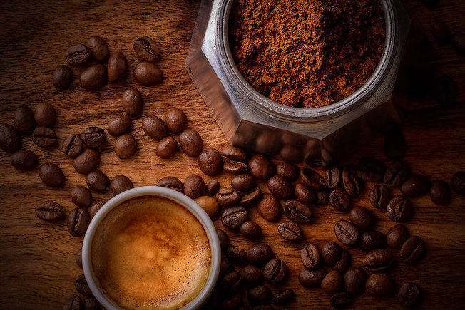 Kopi Luwak Zubereitung gemahlener Kaffee